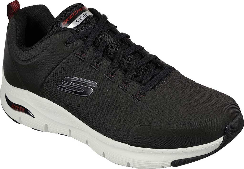 Men's Skechers Arch Fit Titan Sneaker, Black/White, large, image 1