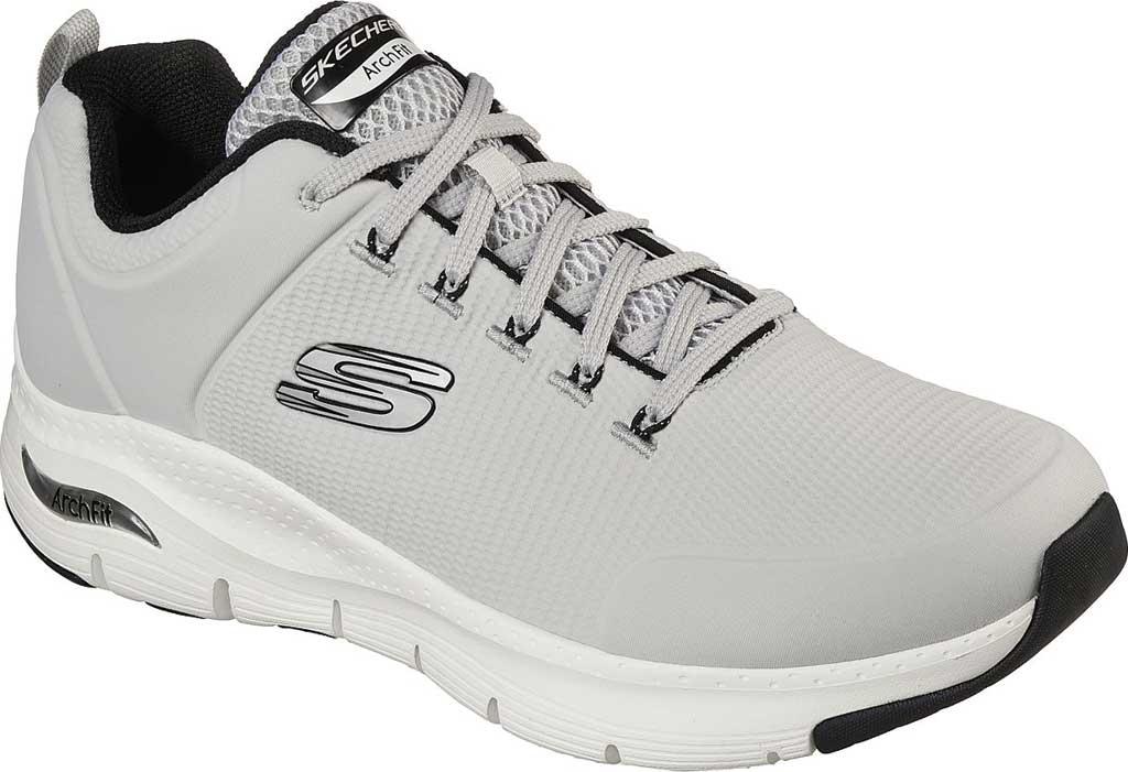 Men's Skechers Arch Fit Titan Sneaker, Gray/White, large, image 1