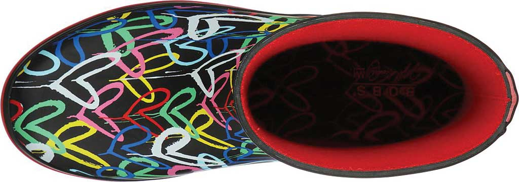 Women's Skechers BOBS Rain Check Raining Love Rain Boot, Black/Multi Rubber, large, image 4