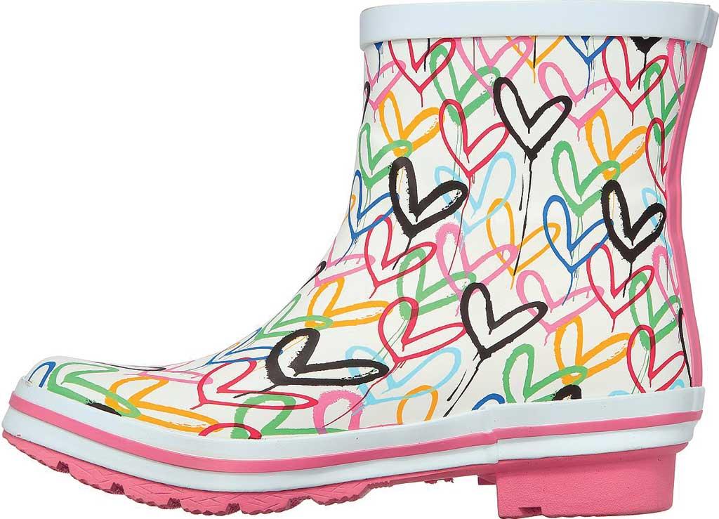 Women's Skechers BOBS Rain Check Raining Love Rain Boot, White/Multi Rubber, large, image 3