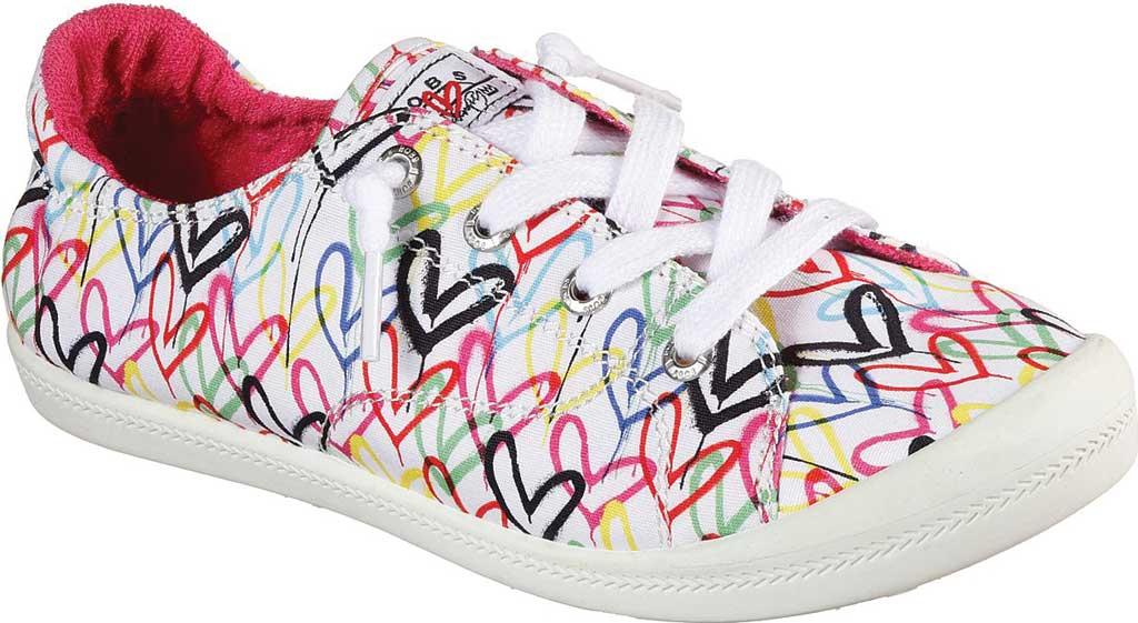Women's Skechers BOBS Beach Bingo Love Truly Sneaker, White/Multi, large, image 1