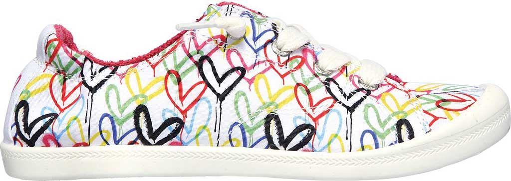 Women's Skechers BOBS Beach Bingo Love Truly Sneaker, White/Multi, large, image 2