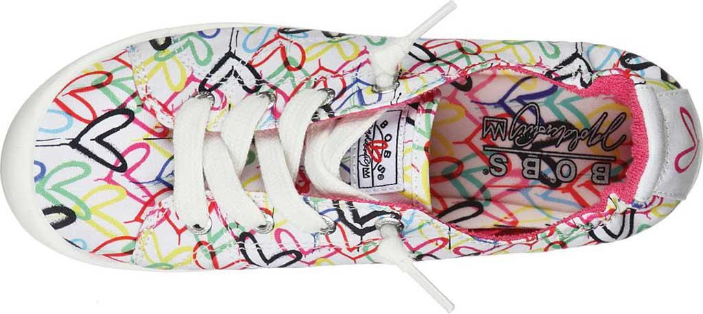 Women's Skechers BOBS Beach Bingo Love Truly Sneaker, White/Multi, large, image 4