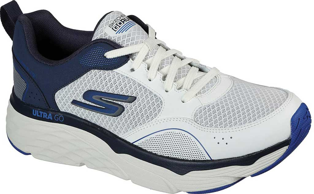 Men's Skechers Max Cushioning Elite Rivalry Sneaker, White/Navy, large, image 1