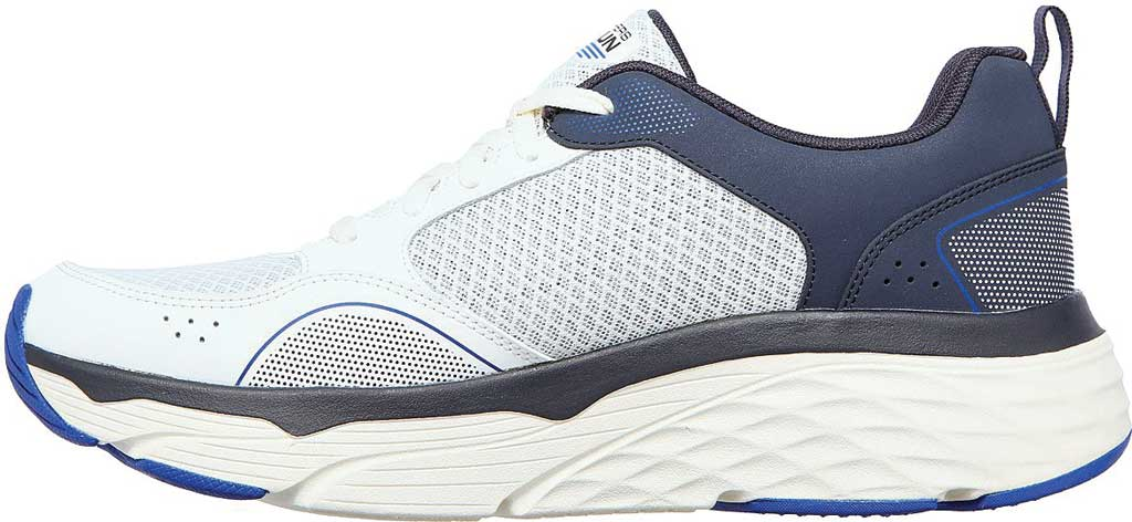 Men's Skechers Max Cushioning Elite Rivalry Sneaker, White/Navy, large, image 3