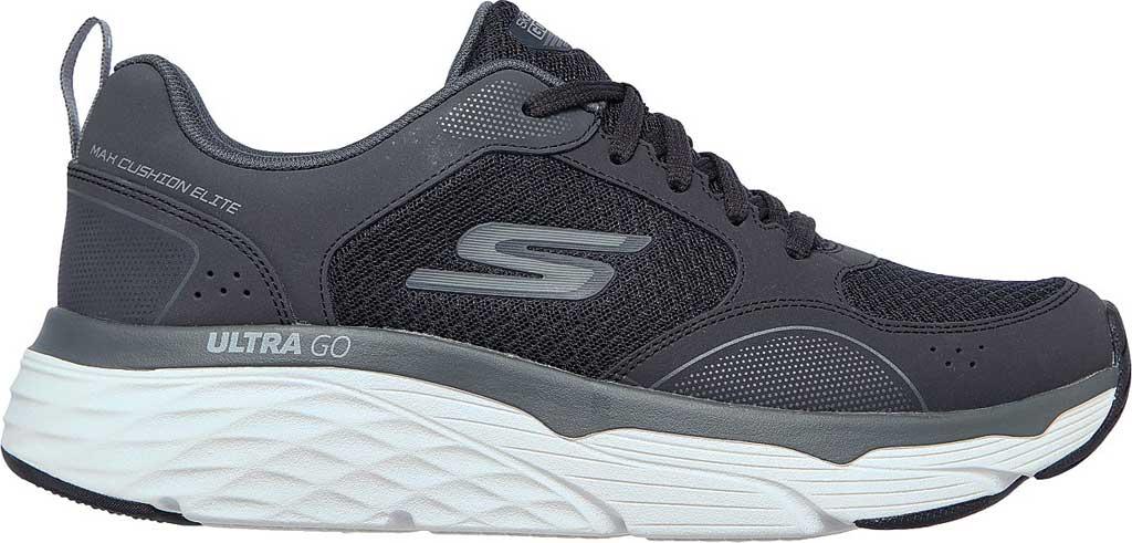 Men's Skechers Max Cushioning Elite Rivalry Sneaker, Black/Gray, large, image 2