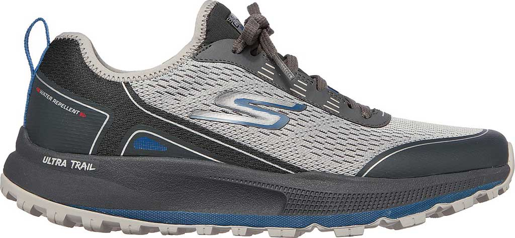 Men's Skechers GOrun Pulse Trail Expedition Trail Shoe, Gray/Charcoal, large, image 2