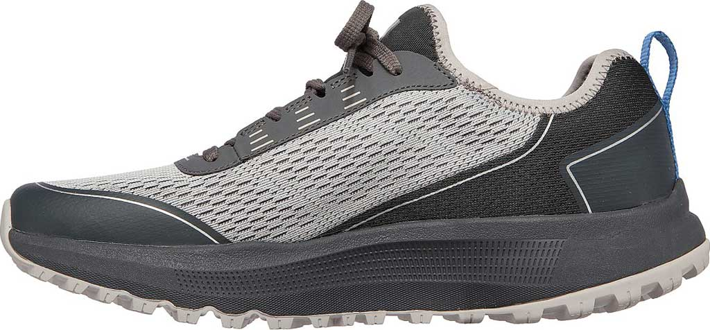 Men's Skechers GOrun Pulse Trail Expedition Trail Shoe, Gray/Charcoal, large, image 3