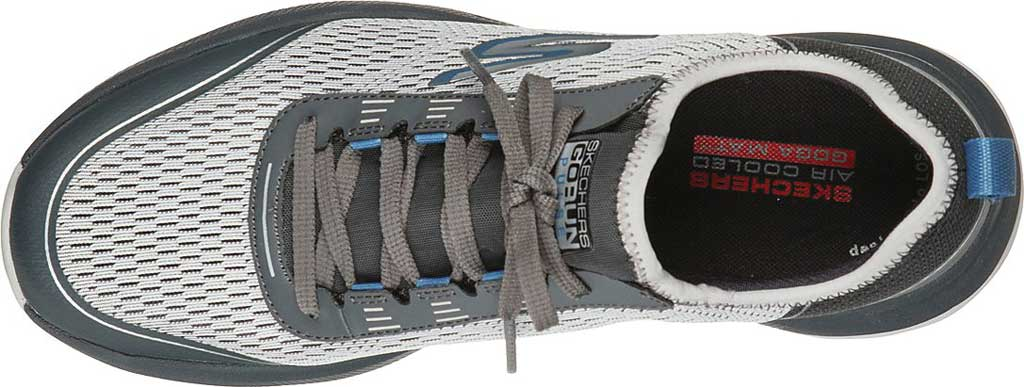 Men's Skechers GOrun Pulse Trail Expedition Trail Shoe, Gray/Charcoal, large, image 4