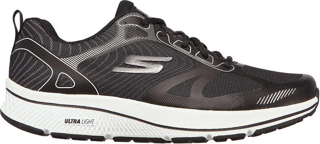 Men's Skechers GOrun Consistent Fleet Rush Running Sneaker, Black/White, large, image 2