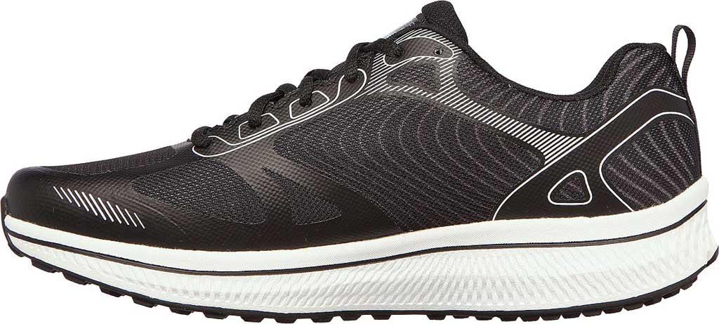 Men's Skechers GOrun Consistent Fleet Rush Running Sneaker, Black/White, large, image 3