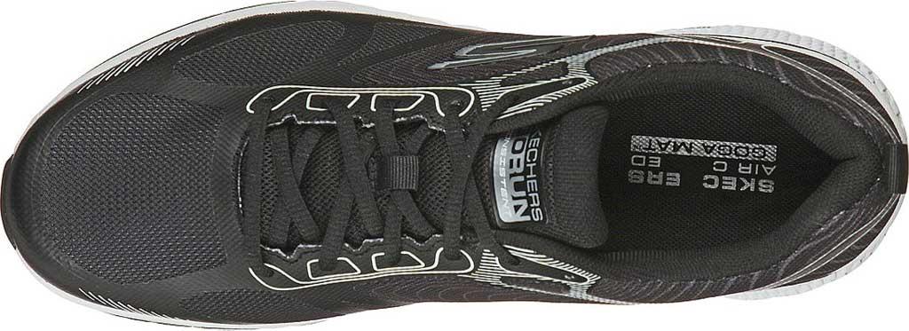 Men's Skechers GOrun Consistent Fleet Rush Running Sneaker, Black/White, large, image 4