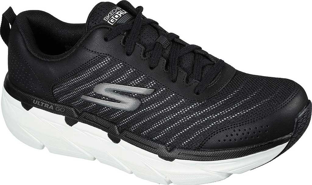 Men's Skechers Max Cushioning Premier Parag Running Sneaker, Black/White, large, image 1