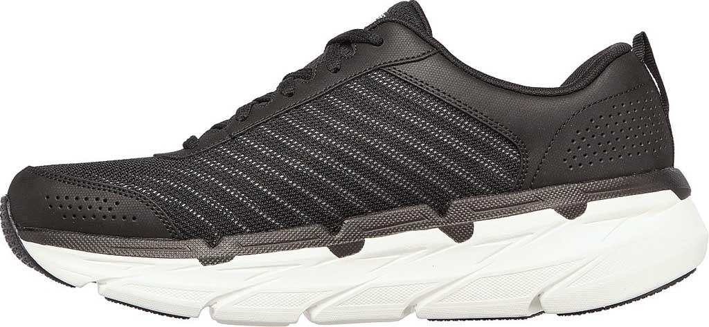 Men's Skechers Max Cushioning Premier Parag Running Sneaker, Black/White, large, image 3