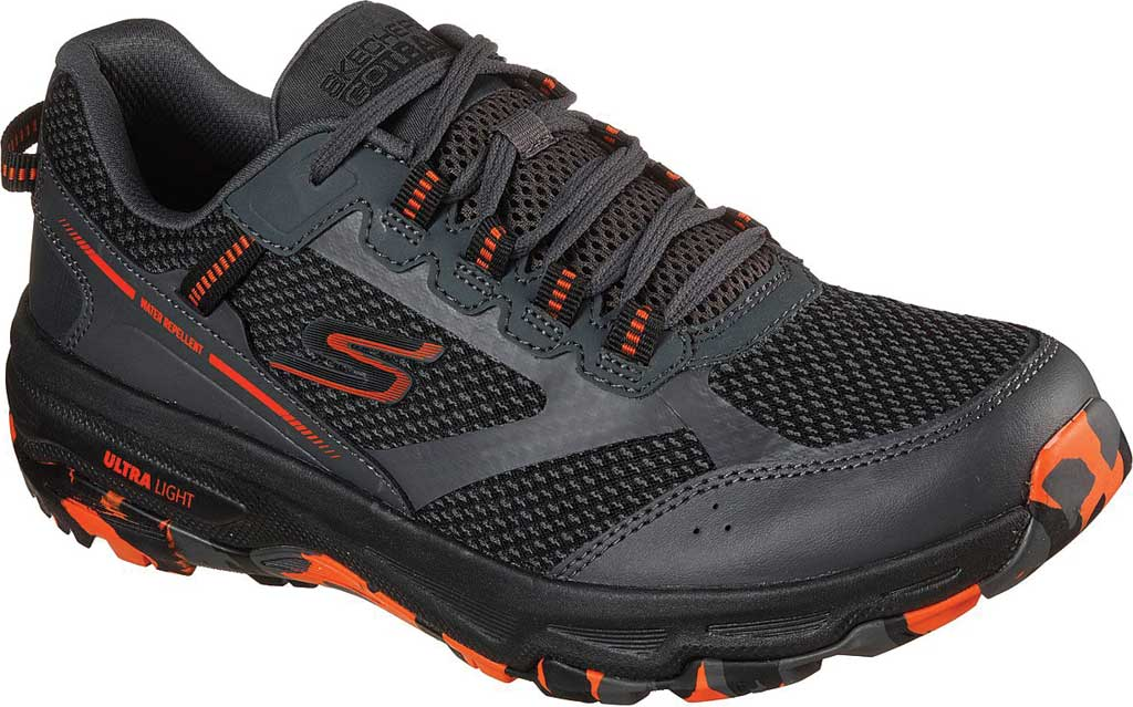 Men's Skechers GOrun Trail Altitude Marble Rock Trail Shoe, Charcoal/Orange, large, image 1