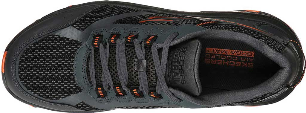 Men's Skechers GOrun Trail Altitude Marble Rock Trail Shoe, Charcoal/Orange, large, image 4