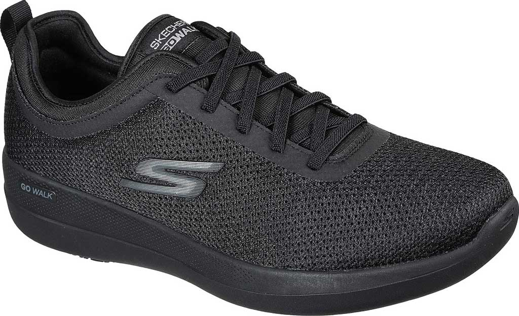 Men's Skechers GOwalk Stability Progress Vegan Sneaker, Black, large, image 1