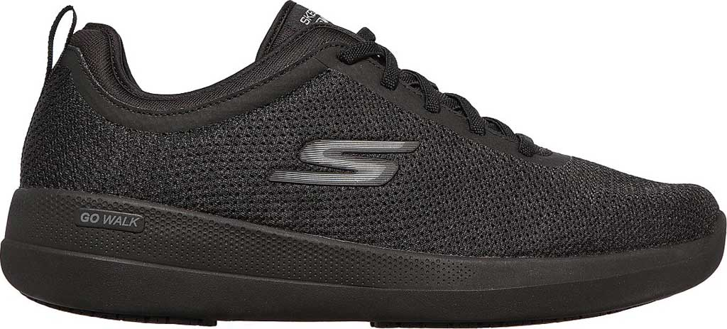 Men's Skechers GOwalk Stability Progress Vegan Sneaker, Black, large, image 2