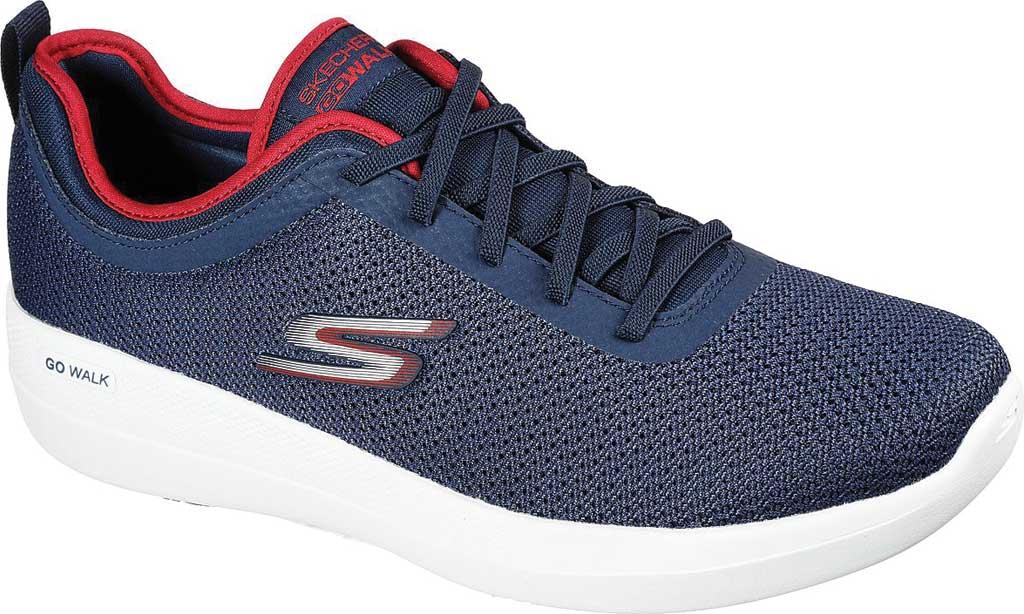 Men's Skechers GOwalk Stability Progress Vegan Sneaker, Navy/Red, large, image 1