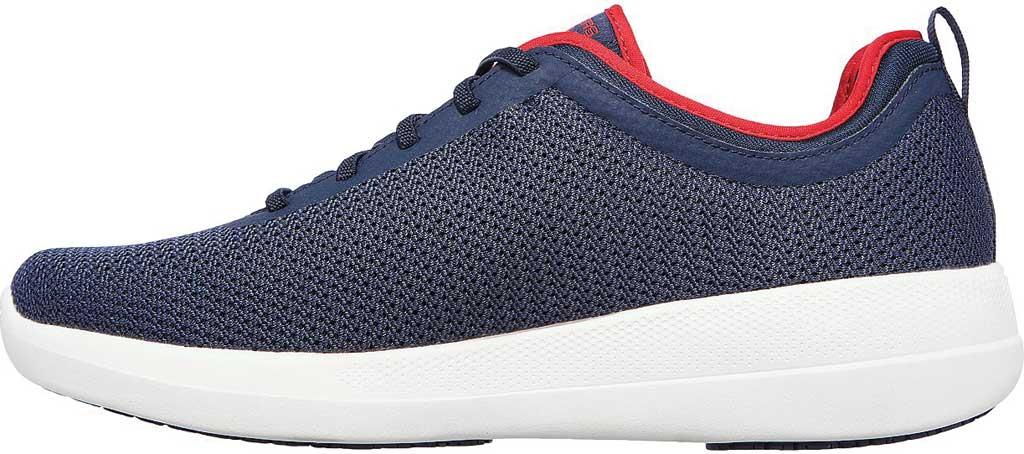Men's Skechers GOwalk Stability Progress Vegan Sneaker, Navy/Red, large, image 3