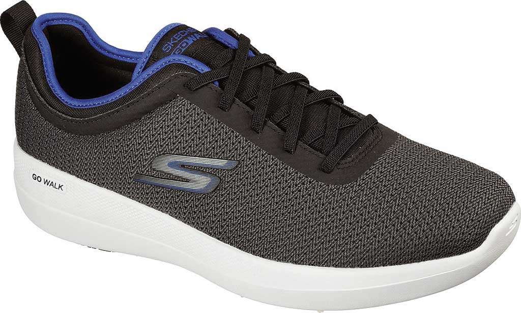 Men's Skechers GOwalk Stability Progress Vegan Sneaker, Black/Blue, large, image 1