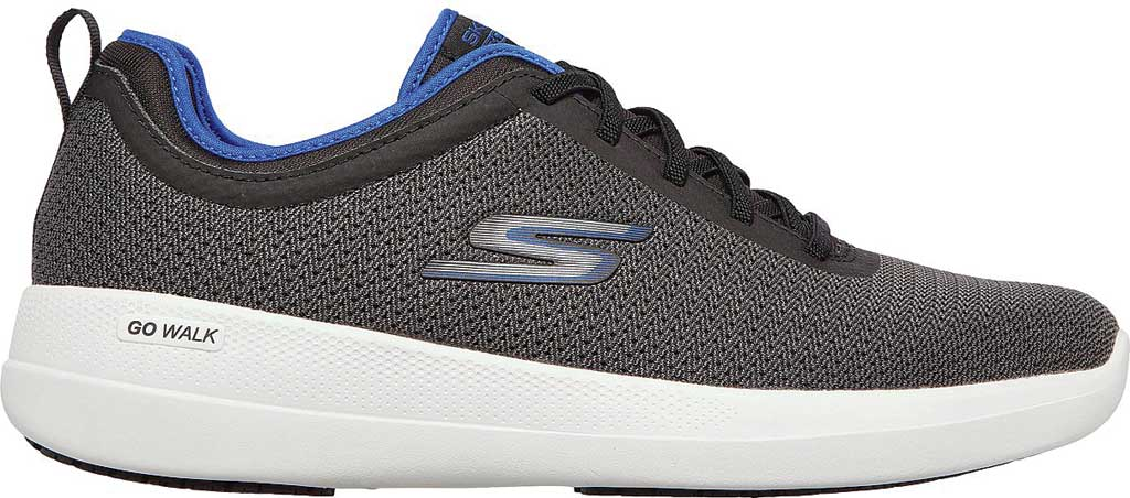 Men's Skechers GOwalk Stability Progress Vegan Sneaker, Black/Blue, large, image 2