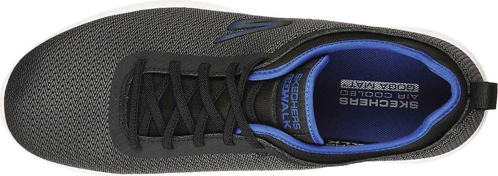Men's Skechers GOwalk Stability Progress Vegan Sneaker, Black/Blue, large, image 4