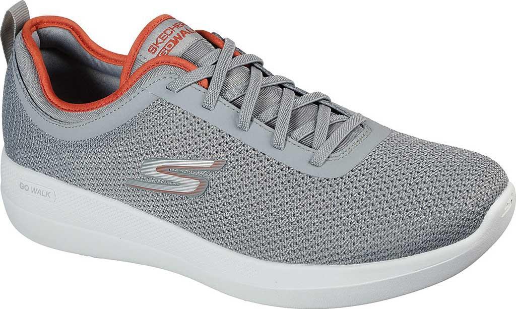 Men's Skechers GOwalk Stability Progress Vegan Sneaker, Gray/Orange, large, image 1