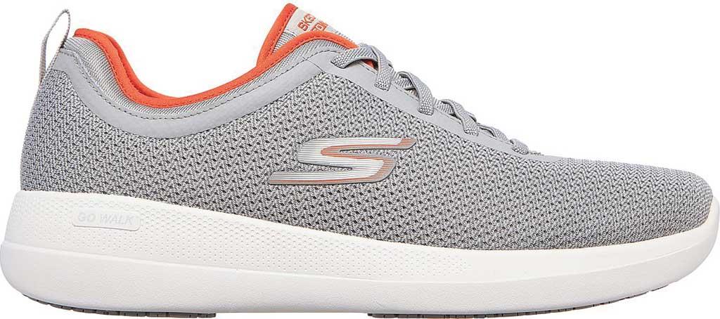 Men's Skechers GOwalk Stability Progress Vegan Sneaker, Gray/Orange, large, image 2
