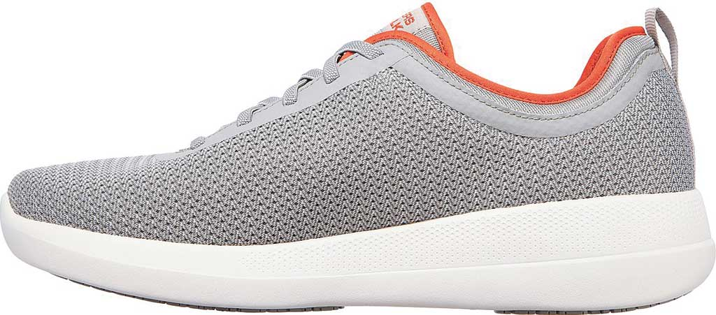 Men's Skechers GOwalk Stability Progress Vegan Sneaker, Gray/Orange, large, image 3