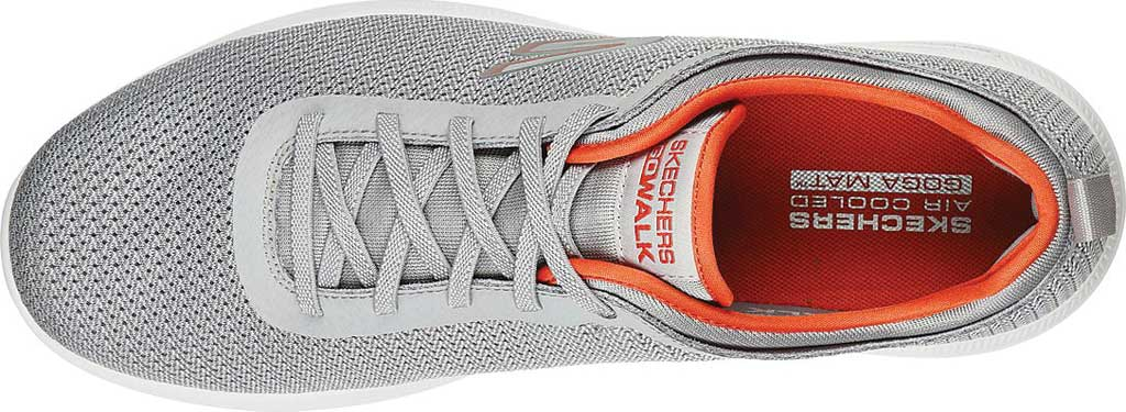 Men's Skechers GOwalk Stability Progress Vegan Sneaker, Gray/Orange, large, image 4