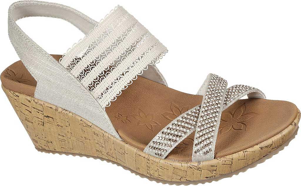 Women's Skechers Beverlee Fancy Sips Vegan Wedge Strappy Sandal, Natural, large, image 1