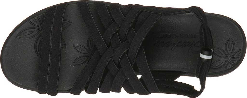 Women's Skechers Pier-Lite Vegan Strappy Wedge Sandal, Black/Black, large, image 4