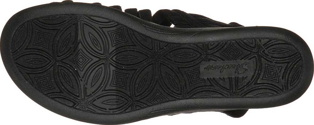 Women's Skechers Pier-Lite Vegan Strappy Wedge Sandal, Black/Black, large, image 5