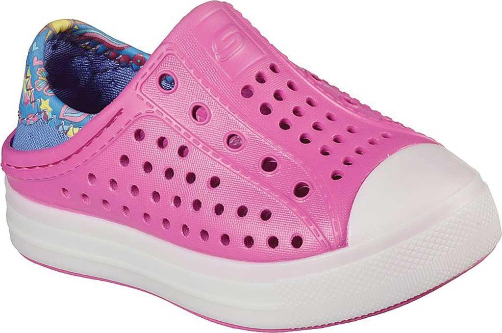Infant Girls' Skechers Foamies Guzman Flash Slip On Sneaker, Pink/Blue, large, image 1