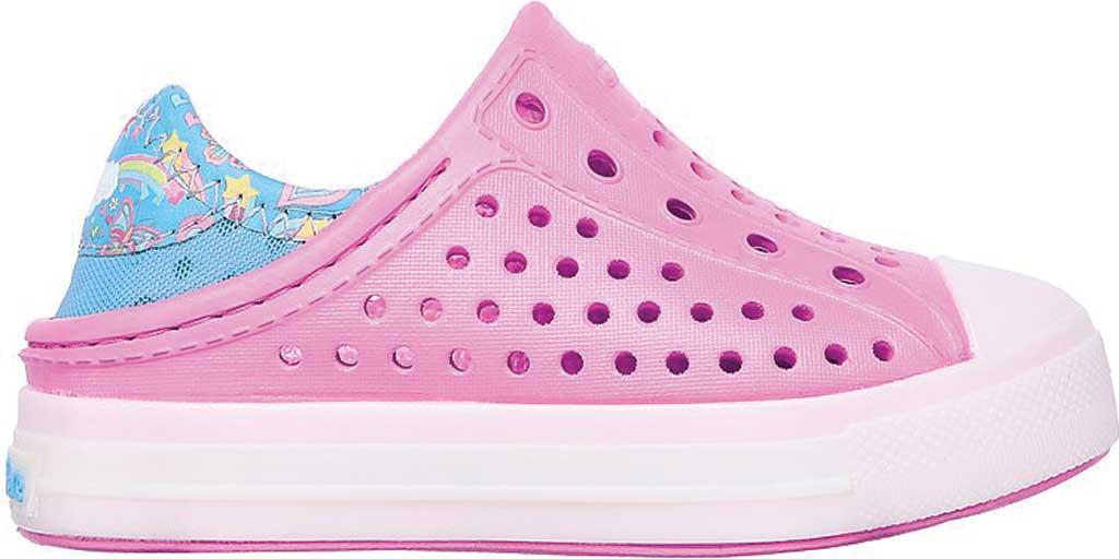 Infant Girls' Skechers Foamies Guzman Flash Slip On Sneaker, Pink/Blue, large, image 2