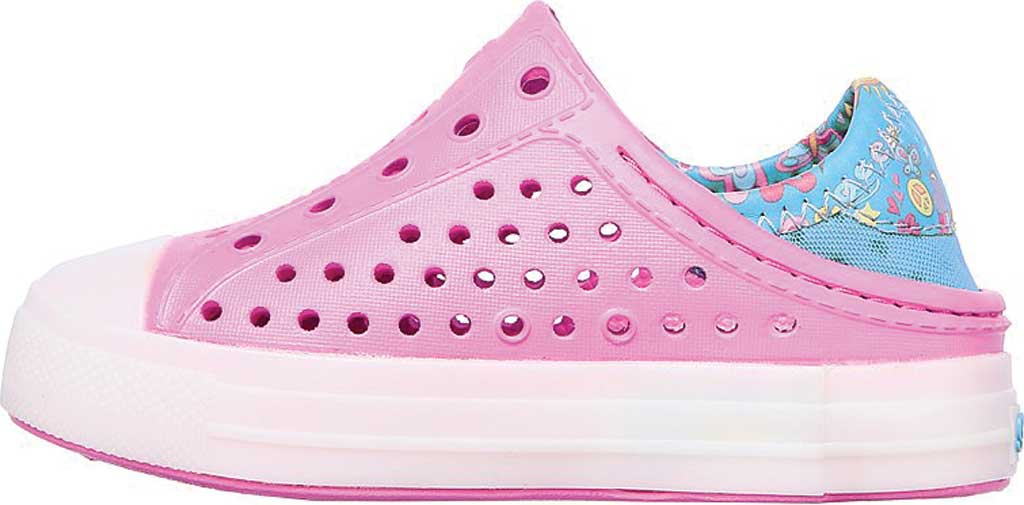 Infant Girls' Skechers Foamies Guzman Flash Slip On Sneaker, Pink/Blue, large, image 3