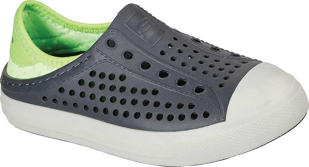 Boys' Skechers Foamies Guzman Flash Slip On Sneaker, Charcoal/Lime, large, image 1