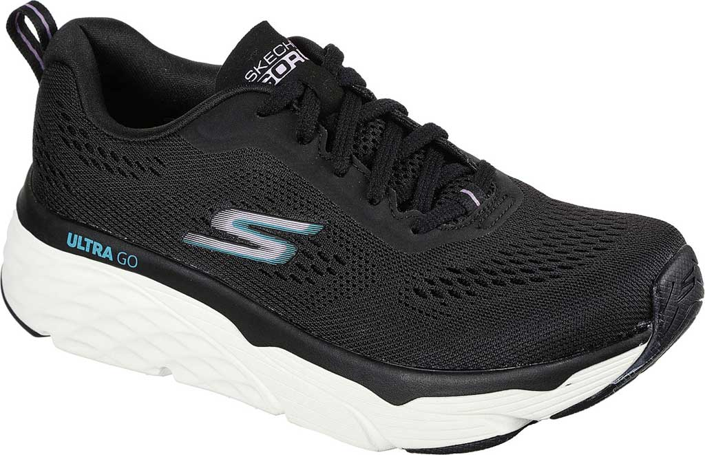 Women's Skechers Max Cushioning Elite Destination Point Sneaker, Black, large, image 1