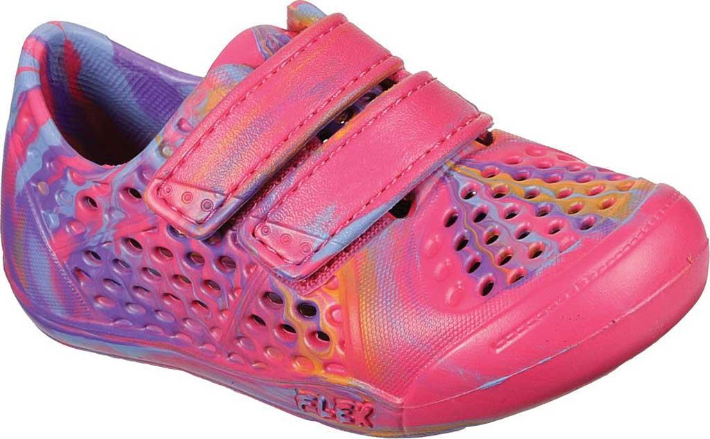 Infant Girls' Skechers Foamies Aqua-Tots Water Swirl Two Strap Sneaker, Hot Pink/Multi, large, image 1