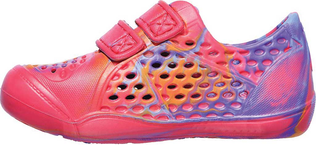 Infant Girls' Skechers Foamies Aqua-Tots Water Swirl Two Strap Sneaker, Hot Pink/Multi, large, image 3