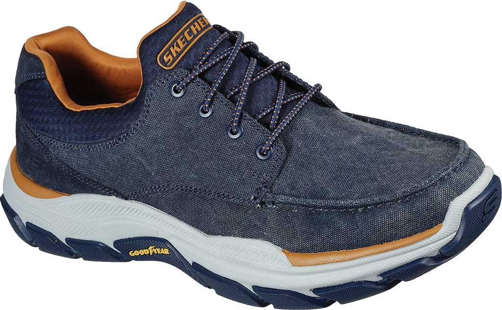 Men's Skechers Relaxed Fit Respected Loleto Sneaker, Navy, large, image 1