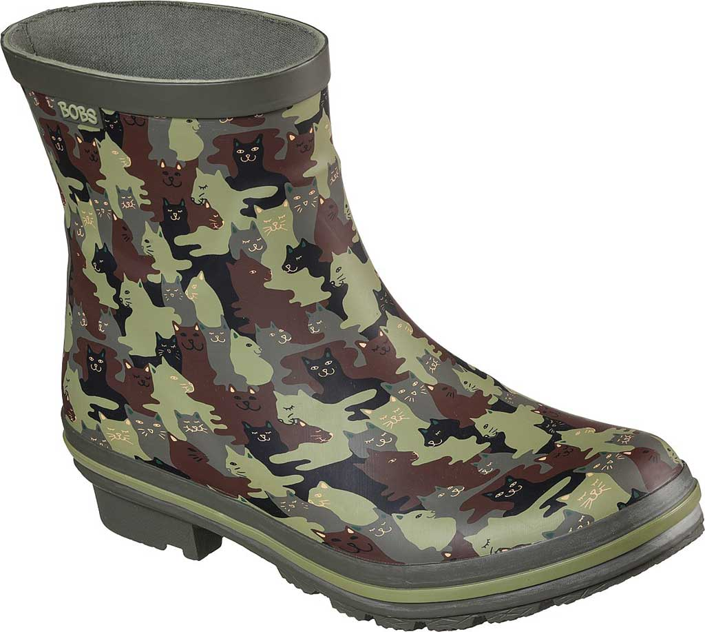 Women's Skechers BOBS Rain Check Catmo Shower Rain Boot, Camouflage, large, image 1