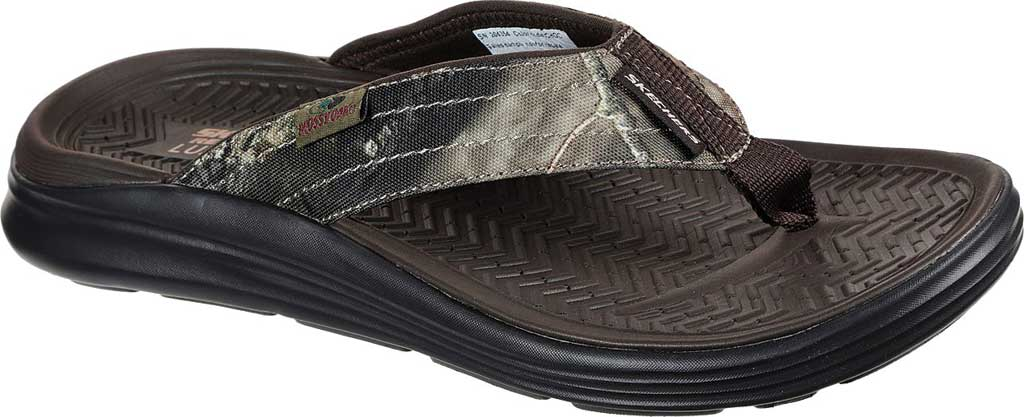 Men's Skechers Relaxed Fit Sargo Everport Vegan Flip Flop, Chocolate, large, image 1