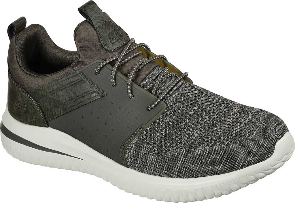 Men's Skechers Delson 3.0 Cicada Sneaker, Olive, large, image 1