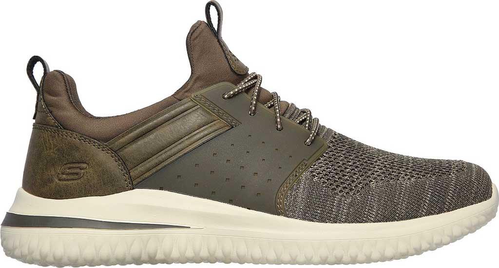 Men's Skechers Delson 3.0 Cicada Sneaker, Olive, large, image 2
