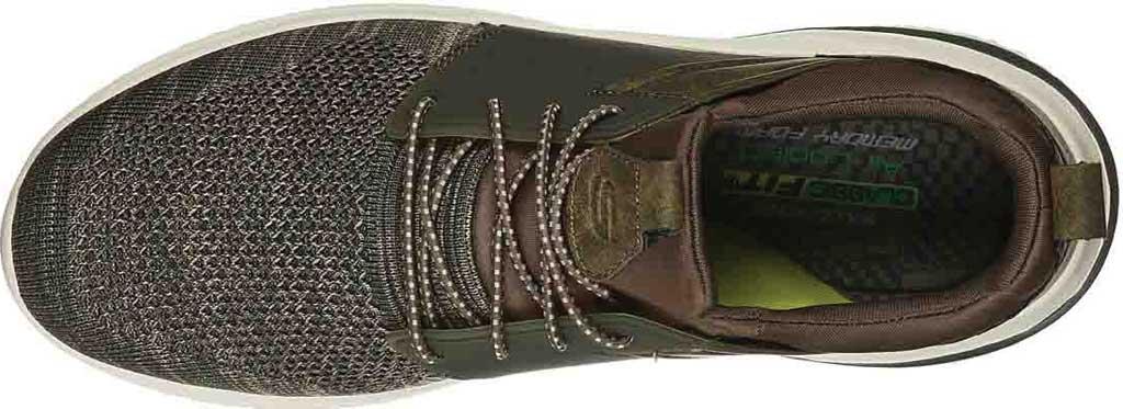 Men's Skechers Delson 3.0 Cicada Sneaker, Olive, large, image 4