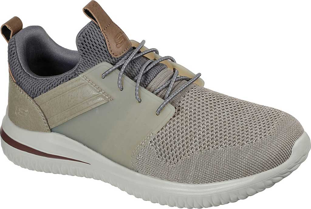 Men's Skechers Delson 3.0 Cicada Sneaker, Taupe, large, image 1