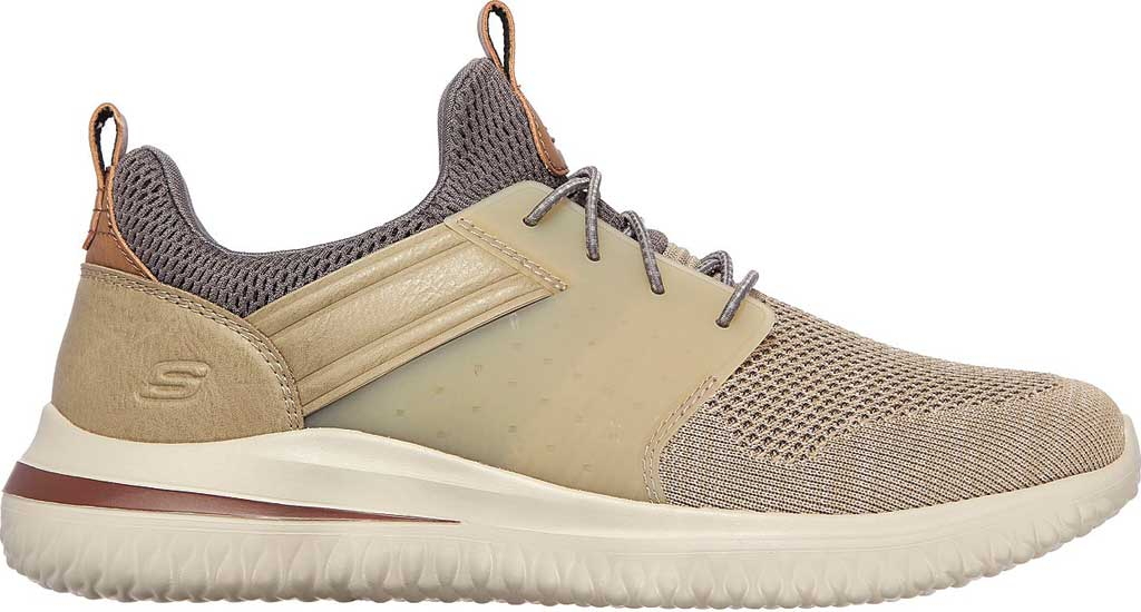 Men's Skechers Delson 3.0 Cicada Sneaker, Taupe, large, image 2