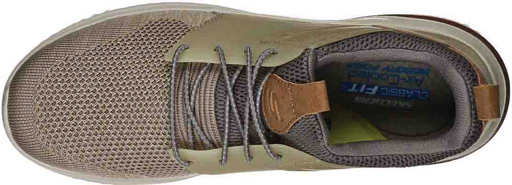 Men's Skechers Delson 3.0 Cicada Sneaker, Taupe, large, image 4